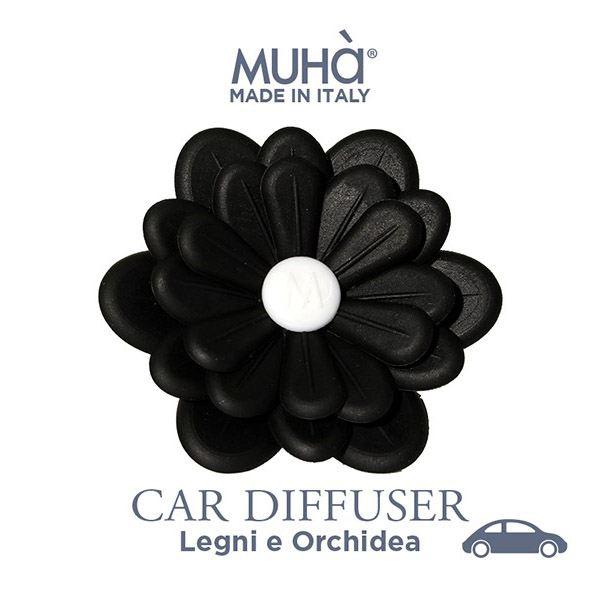 Autóillatosító Virág Fekete - Fák & orchídea illat, MUHA
