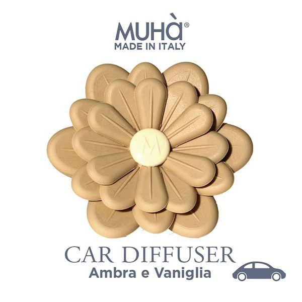 Autóillatosító Virág Natúr - Borostyán & vanília illat, MUHA