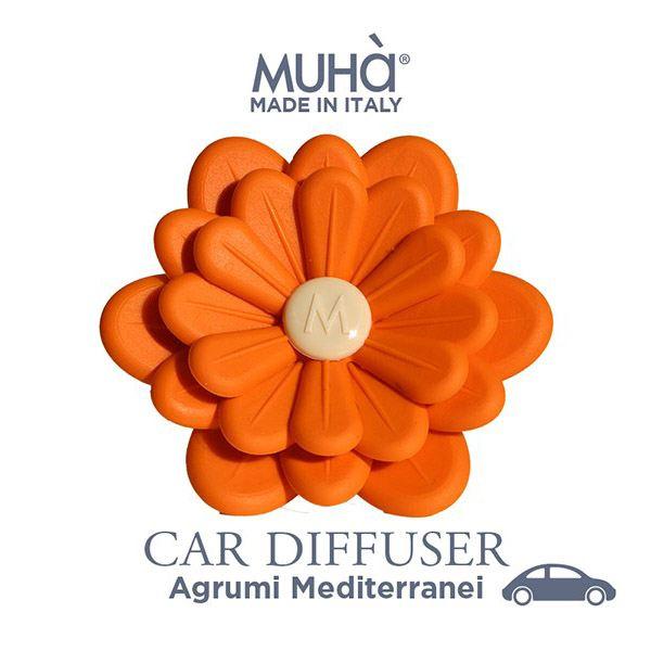 Autóillatosító Virág - Narancs  Mediterrán citrusok illat, MUHA