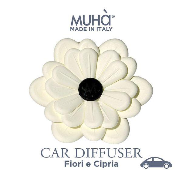 Autóillatosító Virág - Fehér  Virágok & púder illat, MUHA