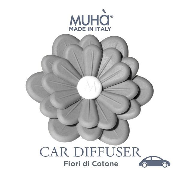 Autóillatosító Virág Szürke - Gyapotvirágok illat, MUHA