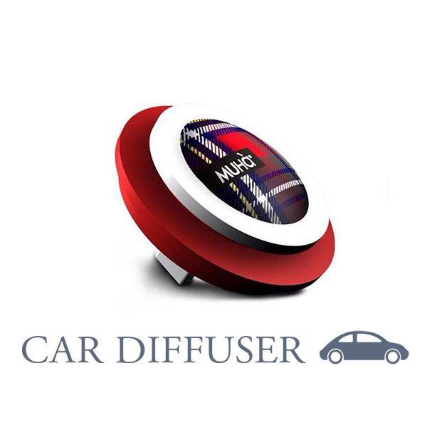 Autóillatosító Piros Kockás - Narancs & fűszerek illat, MUHA