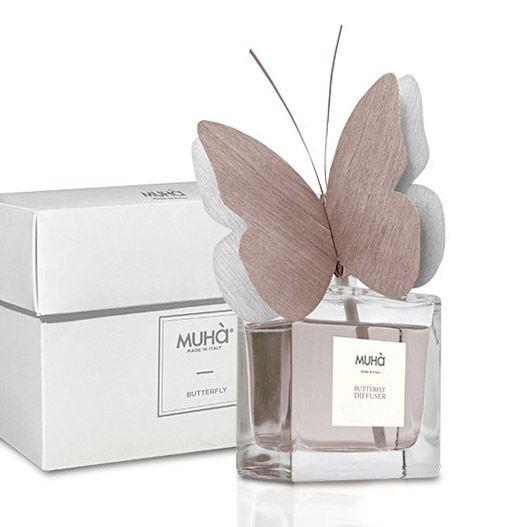 Pillangó illatosító diffúzor 50ml - Antik borostyán illat, MUHA