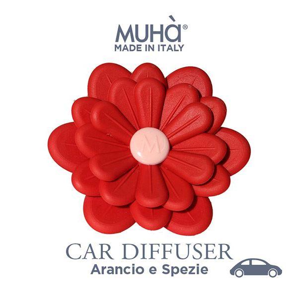 Autóillatosító Virág Piros - Narancs & fűszerek illat, MUHA