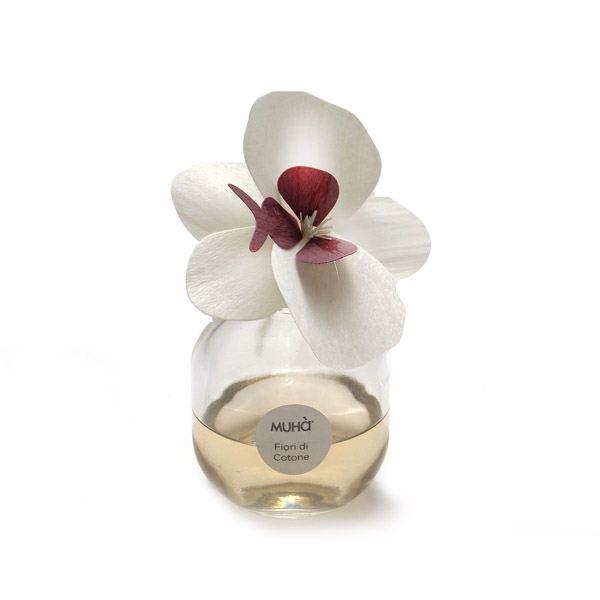 Orchidea design diffúzor Fehér 60 ml - Gyapotvirágok illat, MUHA