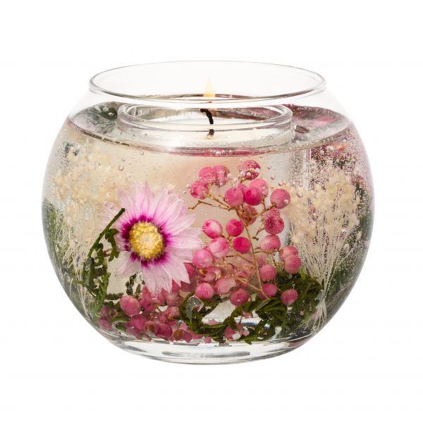 Illatgyertya gömb üvegben 15 h - Virágzó kert illat, Stoneglow