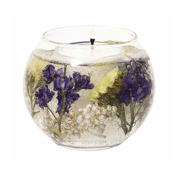 Illatgyertya gömb üvegben 15 h - Citrusvirág illat, Stoneglow