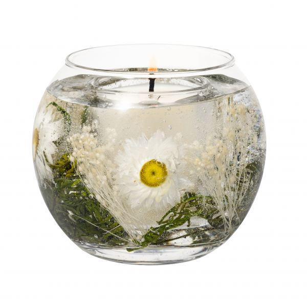 Illatgyertya gömb üvegben 15 h - Százszorszép illat, Stoneglow