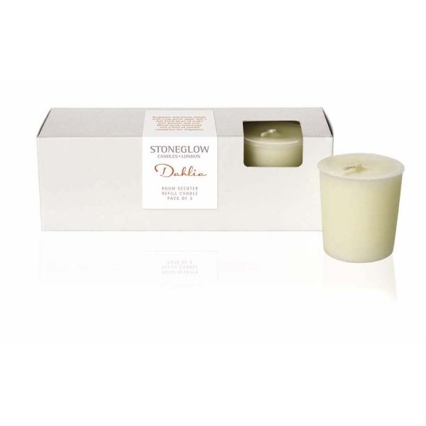 Dahlia Candle Refill 3pk Botanic collection