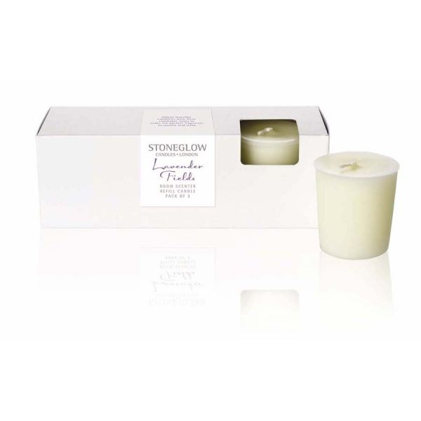 Lavender Fields Candle Refill 3pk Botanic collection
