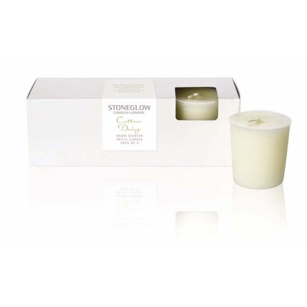 Cotton Daisy Candle Refill 3pk Botanic collection