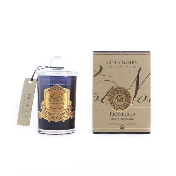 Illatgyertya 25h sötét üvegben  - Prosecco illat, Cote Noire