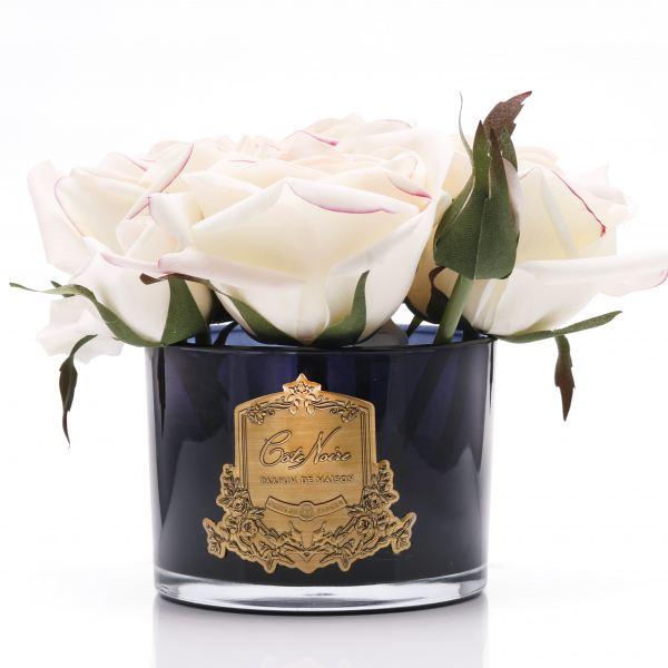 5 Rózsás design diffúzor pír színű, sötét üvegben  - Rózsaszirmok illat, Cote Noire