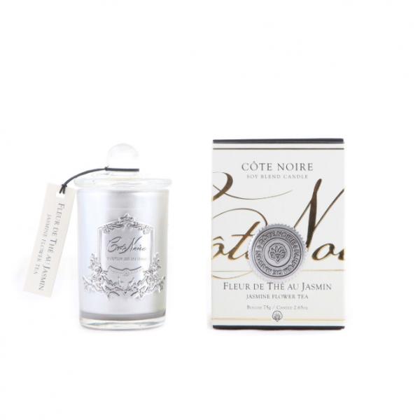 Illatgyertya 25h ezüst üvegben - Jázmin virág illat, Cote Noire