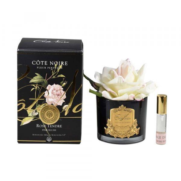 1 Rózsás illat diffúzor pír szín, sötét üvegben  - Rózsaszirmok illat, Cote Noire