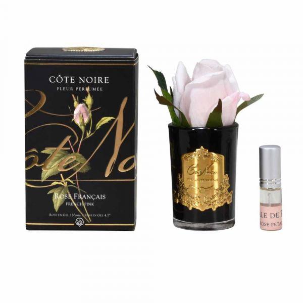 Rózsabimbó illat diffúzor pink, sötét üvegben - Rózsaszirmok illat, Cote Noire