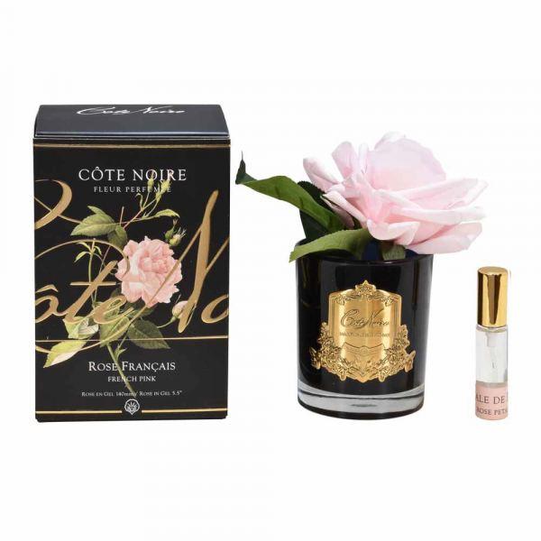 1 Rózsás illat diffúzor rózsaszín, sötét üvegben  - Rózsaszirmok illat, Cote Noire