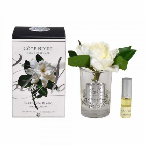 Gardénia design diffúzor üvegben - Rózsaszirom illat, Cote Noire
