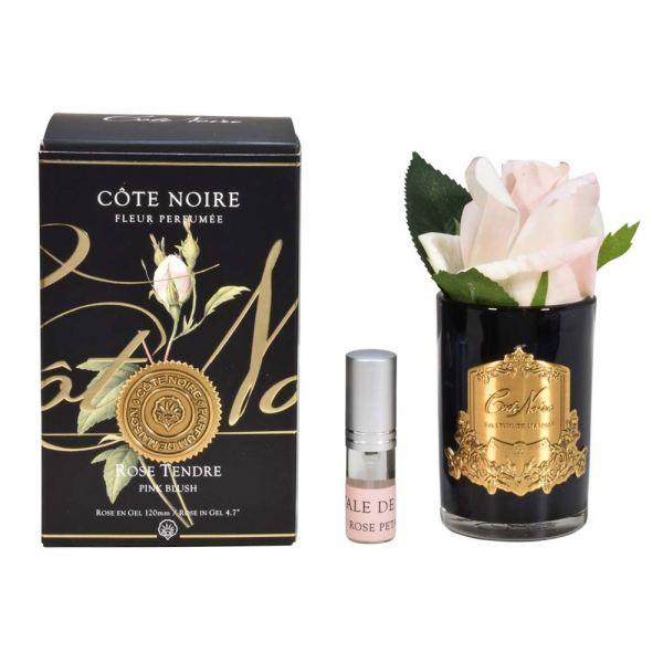 Rózsabimbó illat diffúzor pír szín, sötét üvegben - Rózsaszirmok illat, Cote Noire