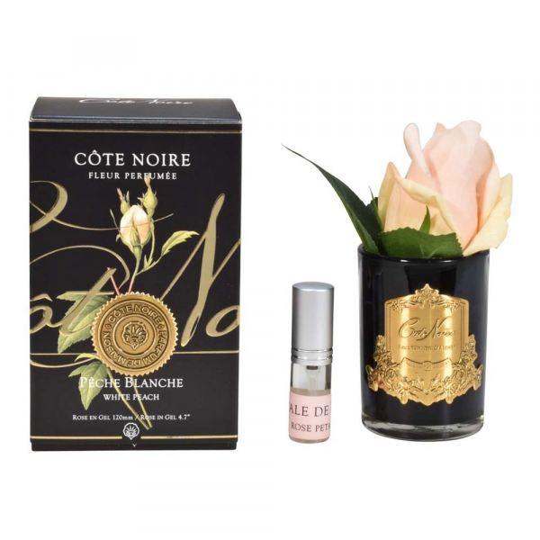 Rózsabimbó illat diffúzor barack szín, sötét üvegben - Rózsaszirmok illat, Cote Noire