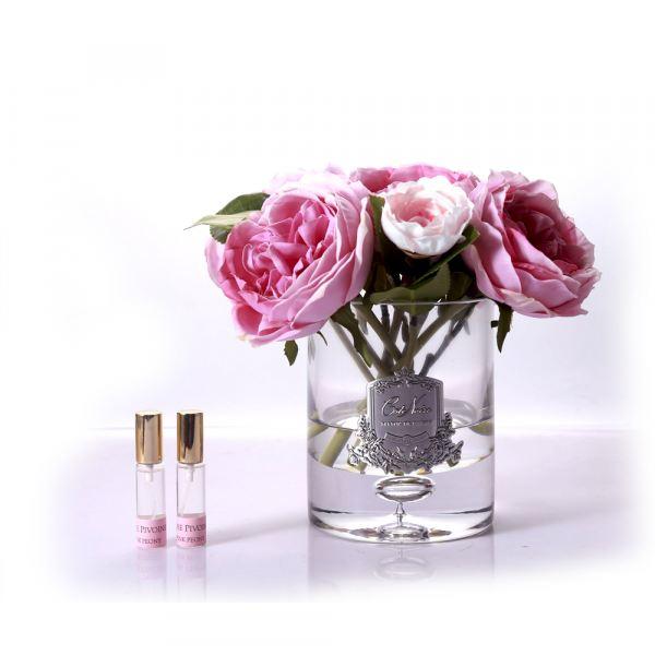 Bazsarózsa és hortenzia design diffúzor, rózsaszín - Bazsarózsa illat, Cote Noire