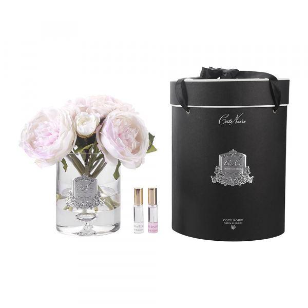 Bazsarózsa és hortenzia design diffúzor pír szín - Bazsarózsa illat, Cote Noire