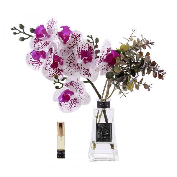 Orchidea design diffúzor üvegben - Bazsarózsa illat, Cote Noire