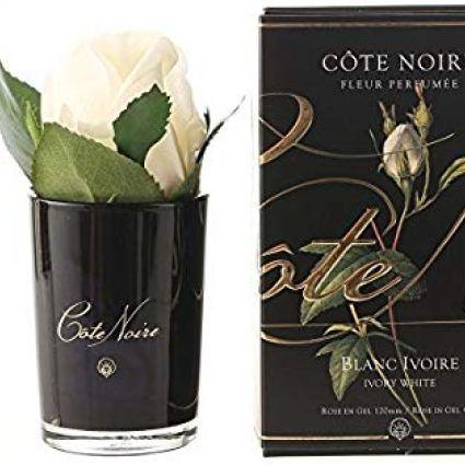 Rózsabimbó illat diffúzor fehér, sötét üvegben - Rózsaszirmok illat, Cote Noire