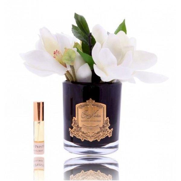 Magnólia diffúzor, fekete üvegben - Bazsarózsa illat, Cote Noire