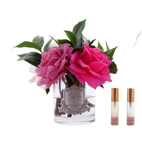 Rózsacsokor design diffúzor üvegben - Rózsaszirmok illat, Cote Noire