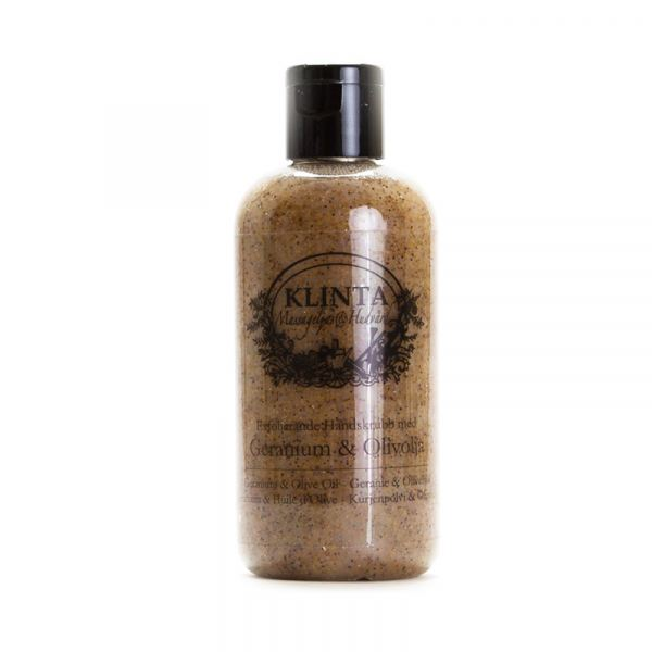 KLINTA Bőrradír kézre 100ml - Rózsamuskátli és olívaolaj illat