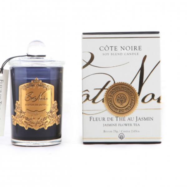 Illatgyertya 25h sötét üvegben - Jázmin virág illat, Cote Noire