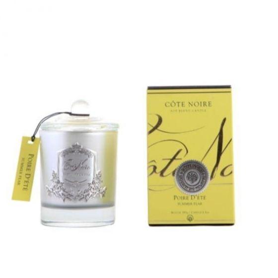 Illatgyertya 60h ezüst üvegben - Nyári körte illat, Cote Noire