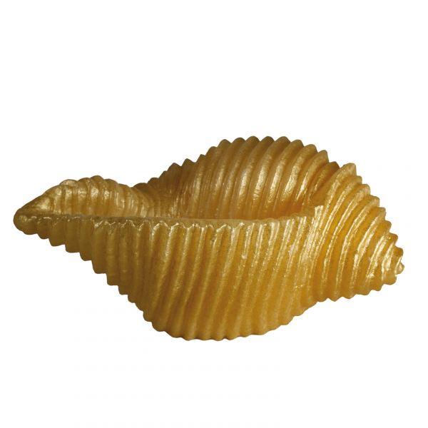 Kagyló gyertya nagy, arany 28x13cm, Cerabella
