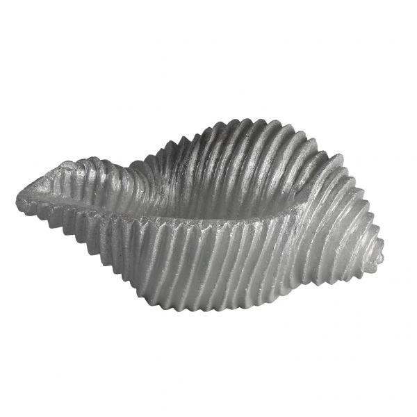 Kagyló gyertya nagy, ezüst 28x13cm Cerabella