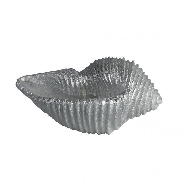 Kagyló gyertya kicsi, ezüst 18x8cm, Cerabella