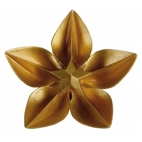 Virág gyertya arany 24,5x8,5cm , Cerabella