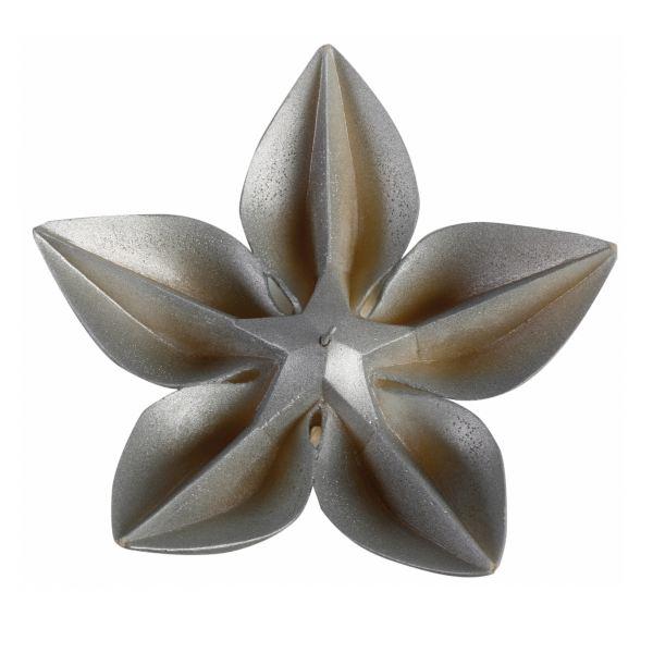 Virág gyertya ezüst 24,5x8,5cm, Cerabella