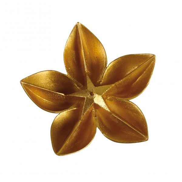 Virág gyertya kicsi, arany 15,5x5,5cm, Cerabella