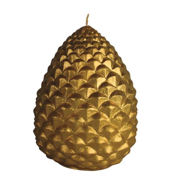 Fenyőtoboz gyertya arany 14,6x20cm, Cerabella