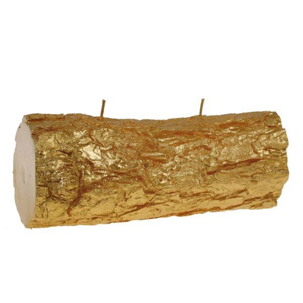 Fatörzs gyertya fekvő, arany 24x10,5cm, Cerabella