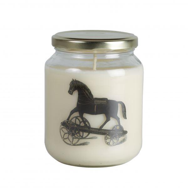 Illatos gyertya befőttes üveg, hintaló  - Mézeskalács illat, Cerabella