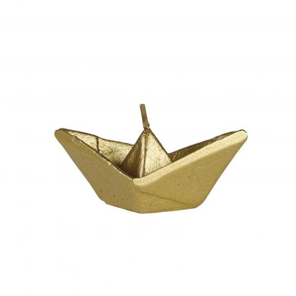Hajó gyertya kicsi, arany 9x3,5cm, Cerabella