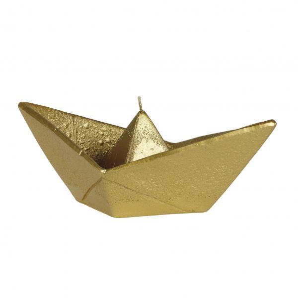 Hajó gyertya nagy, arany 24x9,5cm, Cerabella