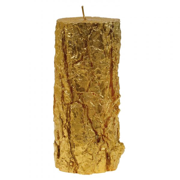 Fatörzs gyertya nagy, arany 10,5x24cm, Cerabella