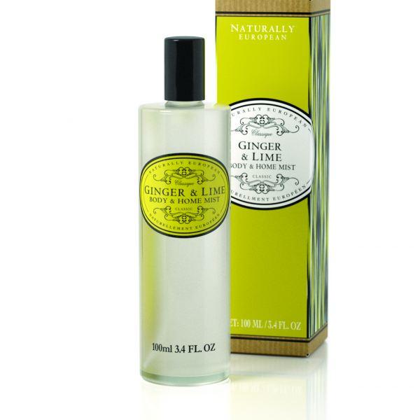 Testpermet és lakásillatosító spray  Naturally European 100ml - Gyömbér és lime illat, The Somerset