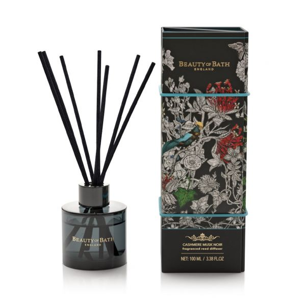 Pálcás illatosító diffúzor Beauty of Bath 100ml - Cashmere Musk Noir illat,  Somerset Toiletry
