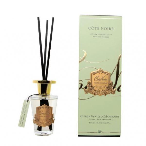 Pálcás illatosító 150 ml - Perzsa lime & mandarin illat, arany címerrel, Cote Noire