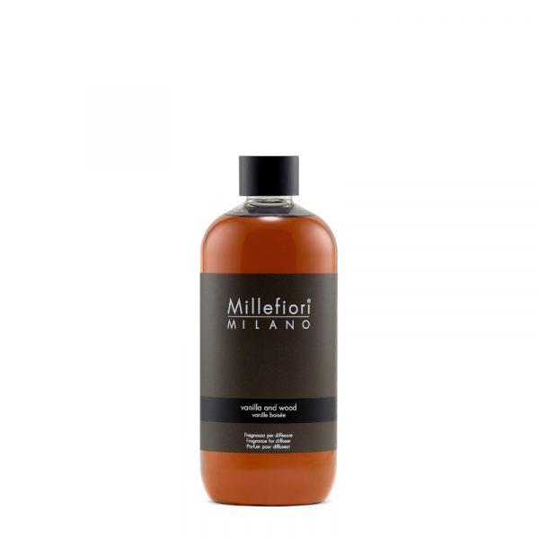 Millefiori Enteriőr parfüm Utántöltő 500ml - Vanília és fa