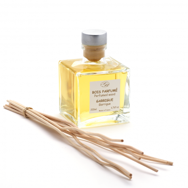 Pálcás illatosító diffúzor 200ml - Garrigue bokor illat,  Savonnerie de Bormes